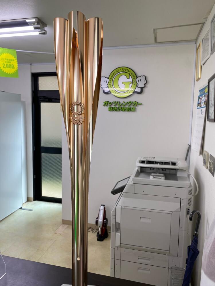 【新所沢駅前店】東京オリンピック聖火トーチが当店にやって来ました!